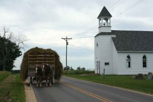 an amish haywagon