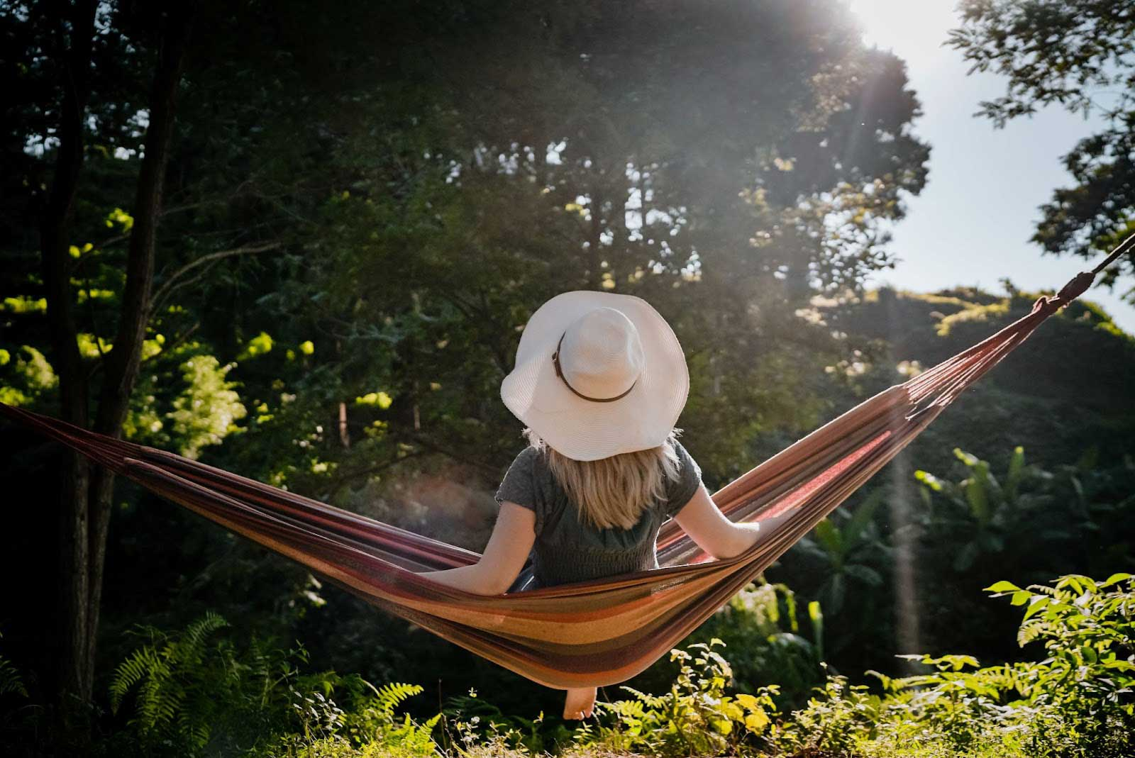 person in hammock